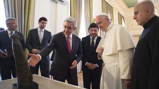 El Papa Francisco en su visita a Armenia. (EFE)