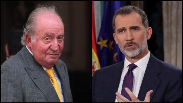 Parece que Juan Carlos I, rey emérito de España, se fue del país de común acuerdo con su hijo Felipe VI, actual monarca. (Collage/EFE)