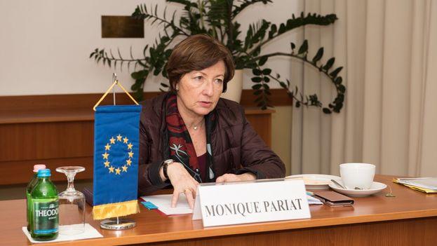 Pariat viajó a Madrid para exponer a las autoridades españolas la propuesta de Bruselas de un sistema europeo de lucha contra catástrofes (rescUE). (@MoniquePariatEU)