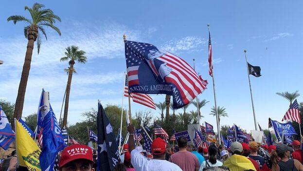 Partidarios de Donald Trump durante la campaña de estas elecciones presidenciales 2020. (EFE/Alex Segura/Archivo)