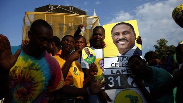 Partidarios de Jude Célestin, candidato opositor a la presidencia de Haití. (EFE)