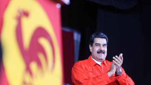 Nicolás Maduro en un evento político con el Partido Comunista de Venezuela, en 2018. (EFE/Prensa Miraflores)