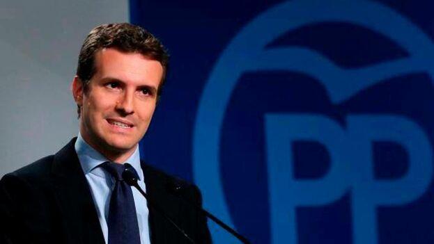 El líder del Partido Popular, Pablo Casado. (EFE)