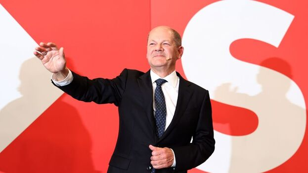 Olaf Scholz, líder del Partido Socialdemócrata de Alemania. (EFE/EPA/Maja Hitij/Pool)