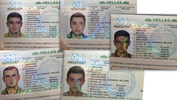 Pasaportes falsificados empleados por los sirios que intentaban encontrar refugio en Estados Unidos pasando por centroamérica