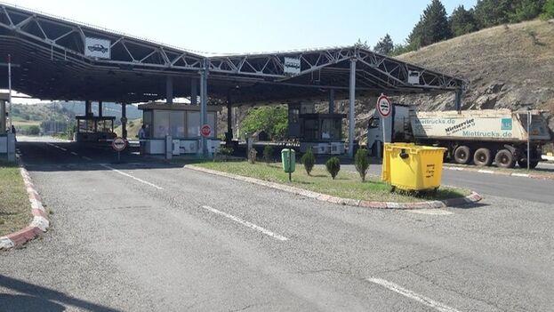 Paso fronterizo de Bogorodica, entre Macedonia del Norte y Grecia. (kurir.mk)
