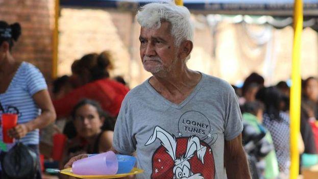 Un anciano venezolano en la Casa de Paso Divina Providencia, en Cúcuta, Colombia. (14ymedio)