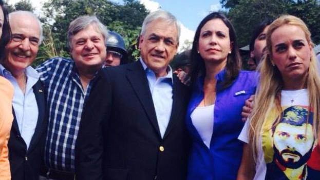 Andres Pastrana y Sebastian Piñeiro con Maria Corina Machado y Lilian Tintori en Ramo Verde