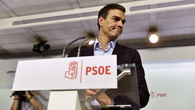 El líder socialista Pedro Sánchez renunció de la presidencia del PSOE. (EFE)