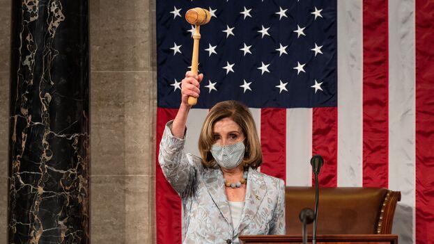 Pelosi tiene ante sí el desafío de revivir la economía y aprobar medidas para hacer frente a la pandemia con una estrecha mayoría. (@SpeakerPelosi)