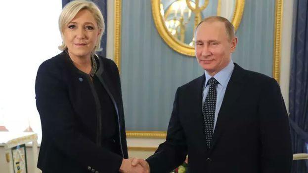 Le Pen mantuvo un encuentro con miembros de la Duma y su presidente en una visita a Moscú que se anunció sólo la víspera. (gazeta.ru)