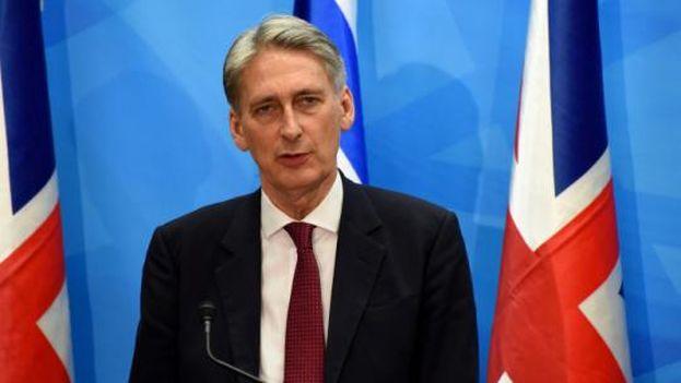 Philip Anthony Hammond es el primer canciller de Reino Unido que visita Cuba desde 1959. (Minrex)