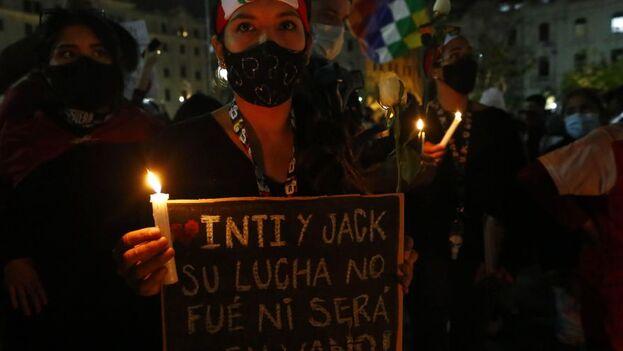 La muerte de Jack Pintado, de 22 años, e Inti Sotelo, de 24 años, movilizaron a la ciudadanía. (EFE)