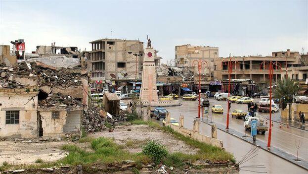 La Plaza Paraíso, convertida en un infierno por los yuhadistas. (EFE)