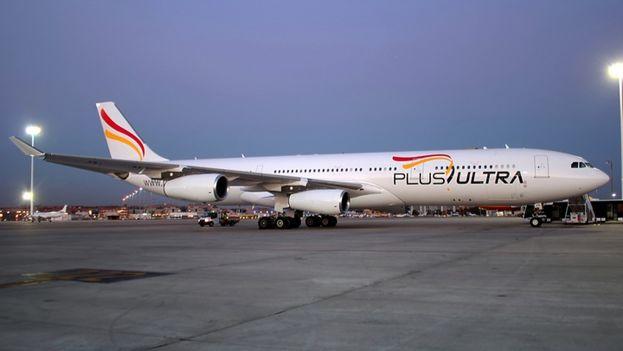 La aerolínea española Plus Ultra operará vuelos regulares entre La Habana y Barcelona desde el primero de julio. (Redes)