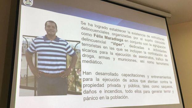 """La Policía señala a Félix Madariaga como jefe de una banda """"dedicada al crimen organizado, narcotráfico, terrorismo, asesinato y otros delitos conexos"""" relacionada con las protestas."""