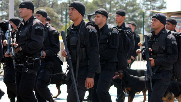 Policía de Operaciones Especiales de Brasil. (CC)