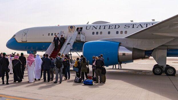 Pompeo aterrizó en Arabia Saudí, país con el que comparte posición política contra Irán. (SecPompeo)