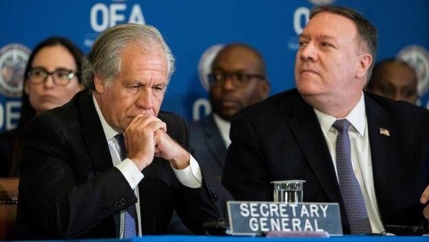 El discurso de Pompeo tuvo lugar en una sesión protocolaria de la Organización de los Estados Americanos. (EFE)