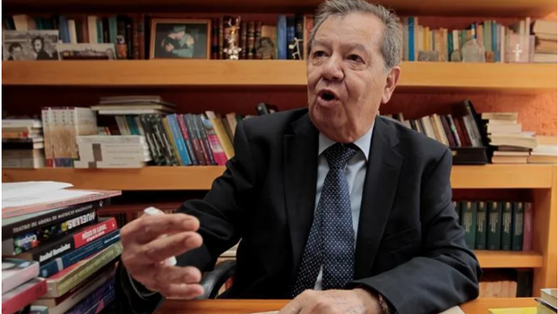 El diputado Porfirio Muñoz Ledo durante una entrevista con Efe en Ciudad de México. (EFE/ Mario Guzmán)