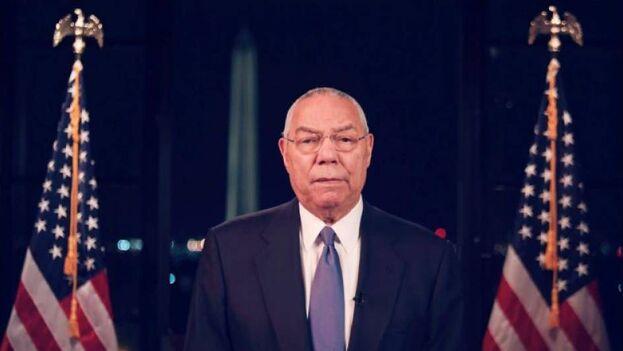El exsecretario de Estado republicano Colin Powell, durante su intervención telemática en la segunda jornada de la Convención Demócrata, donde Joe Biden fue confirmado como candidato a la Casa Blanca. (EFE/EPA/DNCC/Captura)