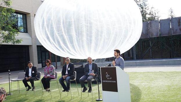 Presentación de Proyecto Loon este miércoles en la sede de Google. (EFE/GOOGLE)