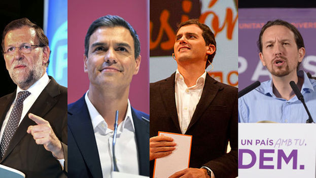 Principales contendientes en la jornada electoral (CC)
