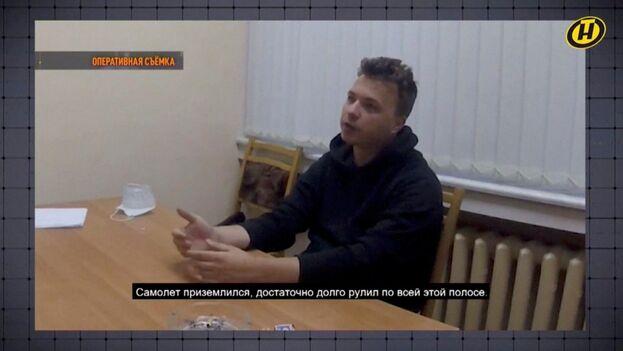 """""""Muchas cosas por las que criticamos a Lukashenko en realidad son simples intentos de presión"""", alabó el opositor en televisión. (Captura)"""