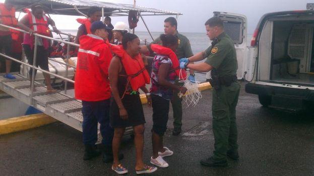 Balseros cubanos interceptados por la Oficina de Aduanas y Protección Fronteriza de EE UU el pasado mes de diciembre. (CBP)