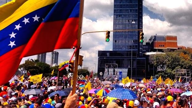 Protesta en Caracas contra el Gobierno de Nicolás Maduro. (Google)