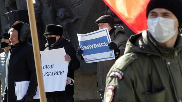 Protesta en Kazan contra la reforma constitucional de Putin.  (EFE/EPA/Alexey Nasyrov)