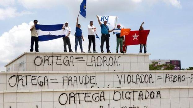 Protesta opositora en Managua, Nicaragua/archivo. (EFE)
