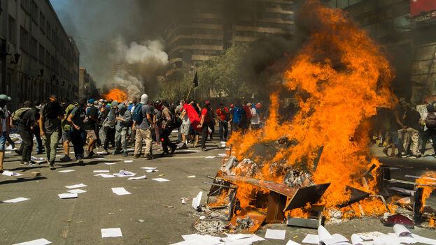 Protestas en Chile. (Ruber Osoria)