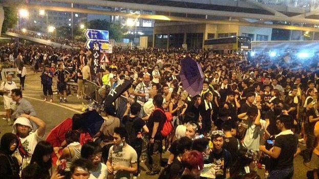 Protestas en HOng Kong. (Fuente: VOA)