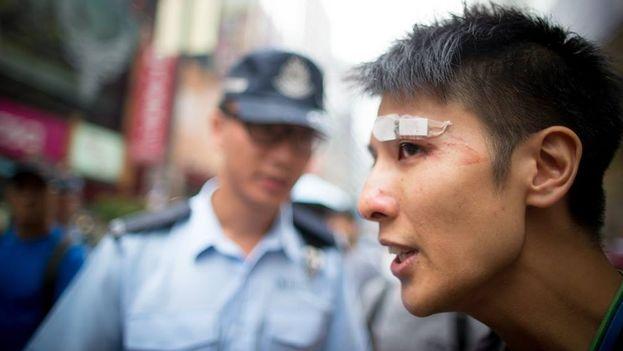 Protestas en Hong Kong. (Gustav Lindgren/14ymedio)