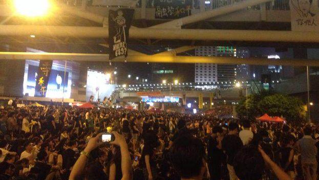 Protestas en Hong Kong.(14ymedio)