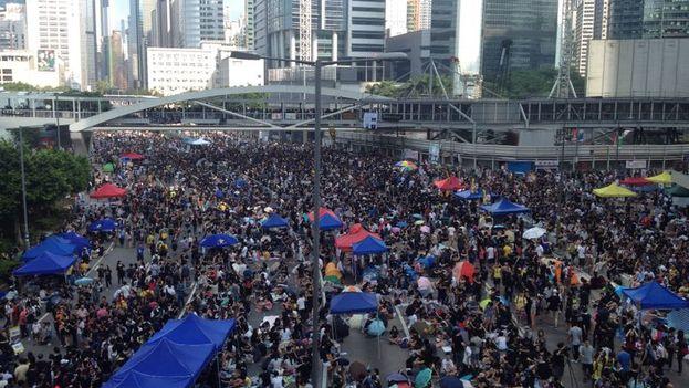 Protestas en Hong Kong. (14ymedio)