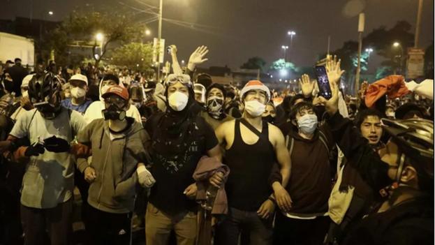 Protestas contra el presidente de Perú, Manuel Merino. (EFE)