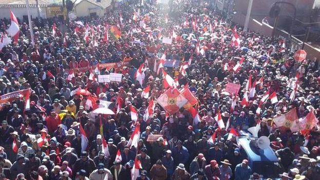 Protestas en Potosí la pasada semana. (Twitter)