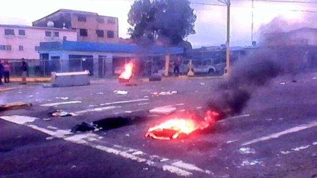 Protestas en Táchira tras la muerte de Kluiverth Roa (@TachiraFuerte)