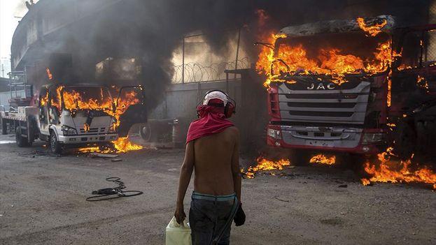 Protestas en Venezuela. (EFE)