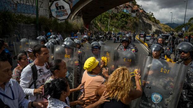 Protestas en Venezuela por falta de alimentos. (EFE)