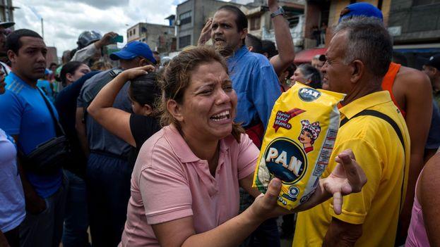 Protestas por escasez de alimentos en Caracas. (EFE Archivo)