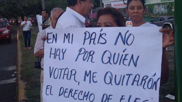 Protestas contra las trabas a la oposición nicaragüense para presentarse a las elecciones. (@CxLibertad)
