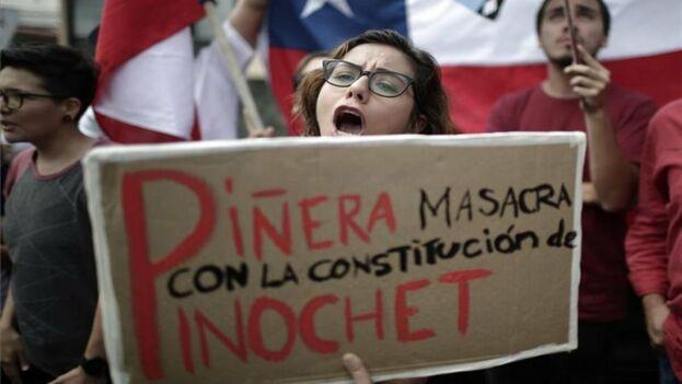 Protestas sociales en contra del presidente de Chile. (EFE)