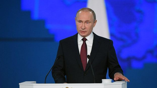 Putin ofreció este miércoles su discurso anual sobre el estado de la nación. (@KremlinRussia_E)
