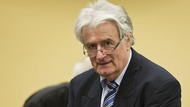 Radovan Karadzic, presidente de la República de Srpska, en Bosnia-Herzegovina, durante la guerra en ese país. (ICTY)