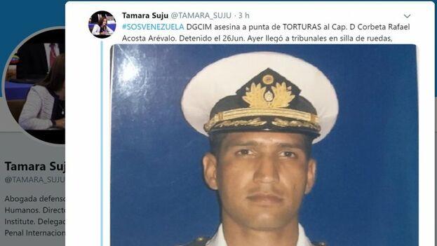 Rafael Acosta Arévalo, pertenecía a la Armada, donde ostentaba el cargo de capitán de corbeta. (Cortesía)