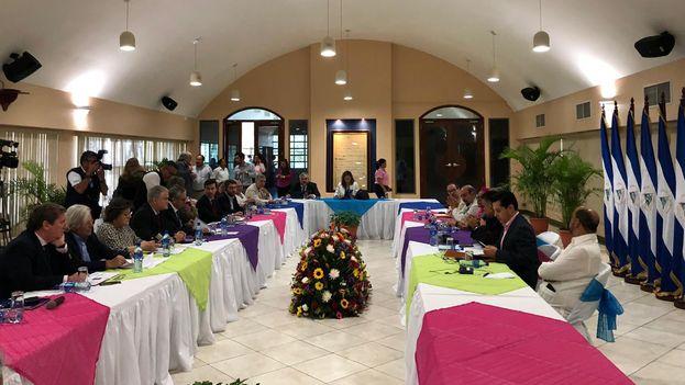 Ramón Jáuregui a finales de enero en Nicaragua, donde se reunió con organizaciones sociales y representantes de la Asamblea nacional. (RJaureguiA)