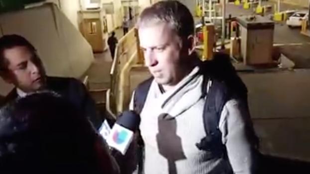 Randy Cuevas, el primer cubano que entró a Estados Unidos después de estar varados dos meses en Costa Rica. (Cubanos en Libertad/captura de pantalla)